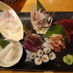 魚金 - 魚金本店のお手頃三点盛り1,280円(税抜)