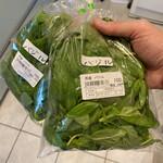 農産物直売所 ほのか - 料理写真:スワローシティ産バジル。二袋で130㌘弱ありました。