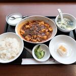 134893188 - 【2020年08月】四川マーボー定食(中辛)@850円、提供時。
