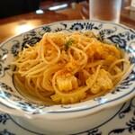 134893990 - とうもろこしとカラスミのスパゲッティ 202008