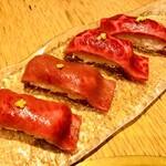 まんぷく - 和牛赤身握り寿司