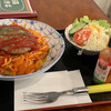 まきば - 料理写真:ハンバーグナポリタン¥800