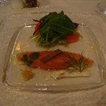 ブラッセリー ピエロ - サーモンの前菜