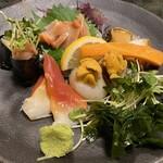 山喜寿司 - 貝類造り盛り合わせ