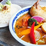 Rojiura Curry SAMURAI. - チキン(パリパリ)1,050円税別+焦がしチーズ+さくさくブロッコリー