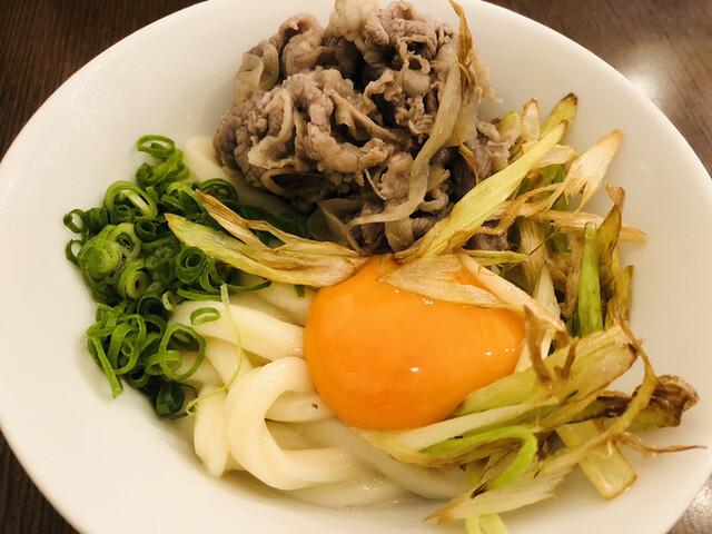 釜玉うどん 功刀屋の料理の写真