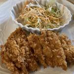 オレンジハウスすえひろ亭 - 料理写真:ランチのチキンカツ