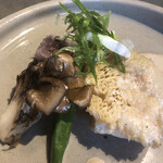 kufuku - 鯛の鱗焼マッシュルームソース