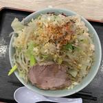 旨い安い腹いっぱい - ラーメン(並)¥750   野菜マシマシ ニンニクマシ アブラマシ