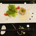 ル・プレジール - 前菜 ホタテとサーモン