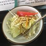 マサラ - まあ、サラダは付け合わせ感が強いかな?
