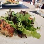 ビストロ エルエラ - 豚ひき肉とオニオンのフラン