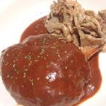 curry DELHI グルメ - ランチ限定!デミグラス煮込みハンバーグ@¥720