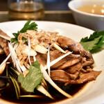 シャンウェイ - ランチ 蒸し鶏の葱醤油定食@890円
