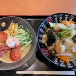 栄盛 - 冷麺セット(冷やし中華 胡麻ダレ+中華丼)