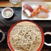 梅鈴 - 料理写真:ランチセット 1,000円 せいろそば+にぎり寿司6貫