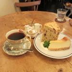 ホメリ - 珈琲とケーキ2種盛り