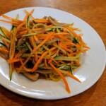モンゴルレストラン郷 - 腸と野菜の炒め物?