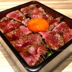 134941989 - 熟成イチボ肉のたたきステーキ重