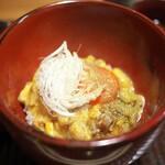 京天神 野口 - 締めのひとつは親子丼♪鶏肉もすこぶるジューシー。