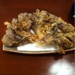 柏香亭 - 舞茸天ぷら3つ500円。さくさく。