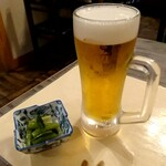 134952544 - 生ビール&野沢菜