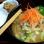 とんぺい - 野菜ラーメン(定食)