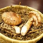 とらふぐ専門 ふぐ中俣 - 長野県産の松茸