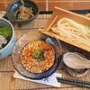 紅葉庵 - 料理写真:オクラと山芋のピリ辛うどん+しらす丼