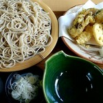 秋月庵 三次郎 - 料理写真:天ざる