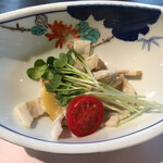 ホテル石庭 - 茹で豚の酢味噌掛け:ご飯に合う美味しさ!大好き~♡
