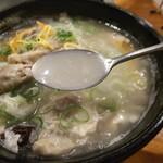 クッパヤ - 「参鶏湯」スープ