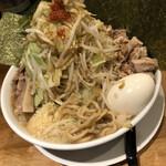麺や 久二郎 - 小麺少なめヤサイマシマシ