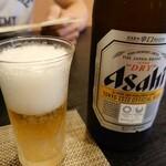 手打そば 一の梅 - 瓶ビール
