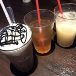チロリン村 - アイスココア  ジャスミン茶(アイス) グレープフルーツジュース
