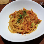 ポポラーレネオ - チョリソーと枝豆のアラビアータ