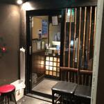 升屋 - 地下のお店の入口