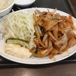 135035117 - 豚肉と野菜の味噌炒め