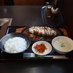 赤とんがらし - ジャンボハンバーグ定食