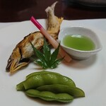 宴庵 ふるや - 料理写真:鮎塩焼き蓼酢