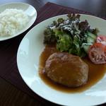 カフェキッサシーユー - 「豆腐入りハンバーグ和風ソース仕立てランチ」(980円)。かなりヘルシーなランチだと思います。