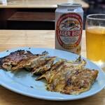 ゆきちゃんラーメン - 餃子&缶ビール