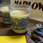 マーロウ - 『北海道フレッシュクリームプリン』 810円(税込)「36周年記念ビーカー」使用