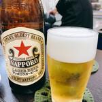 かね吉 - サッポロ赤星  中瓶