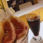 資生堂パーラー - ♦︎イチジクと伊勢原ミルクアイスのパフェ ¥1,925