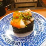 無添くら寿司 - 甘えびユッケ軍艦