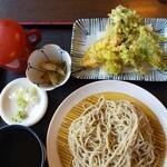 135075195 - 野菜天ぷら付きざる  950円