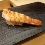 Kagurazaka sushi tamura - 車海老