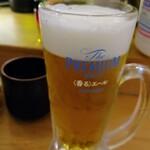 Sushisakabasushiichi - 生ビール320円税別