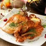 奥三河鶏の煮込みチキン